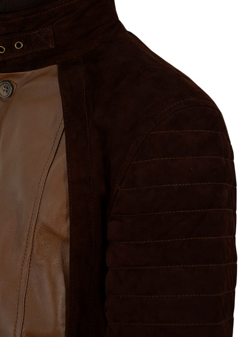 Dark Tan Daniel Radcliff Horns Leather Jacket
