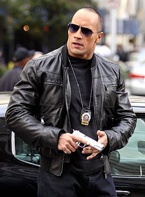 Dwayne Johnson The Other Guys Leather Jacket
