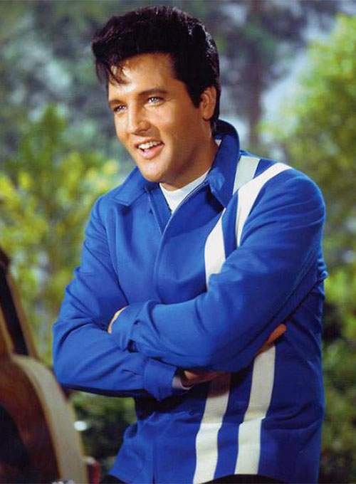Elvis Presley Speedway Blue Leather Jacket