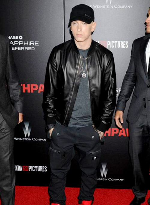 Eminem Red Carpet Leather Jacket