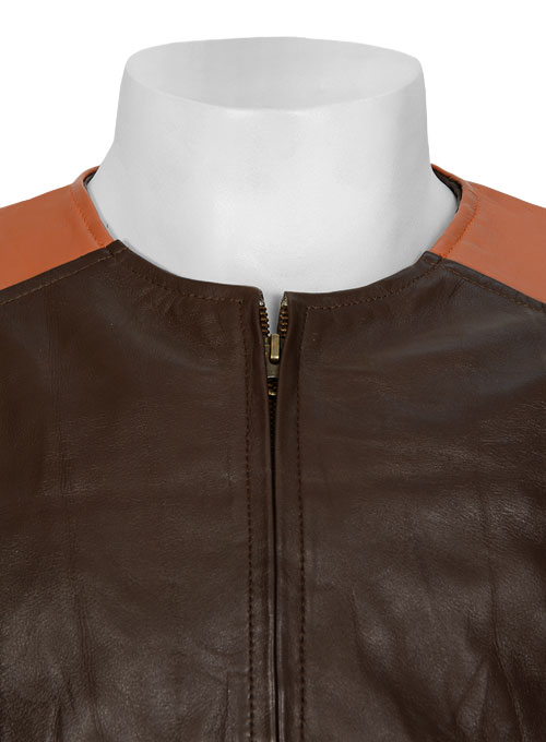 Leather Fighter T-Shirt Jacket