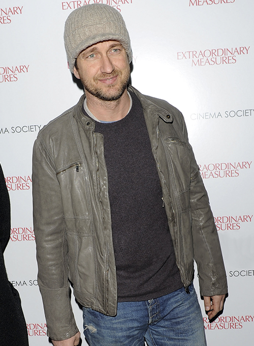 Gerard Butler Leather Jacket #2
