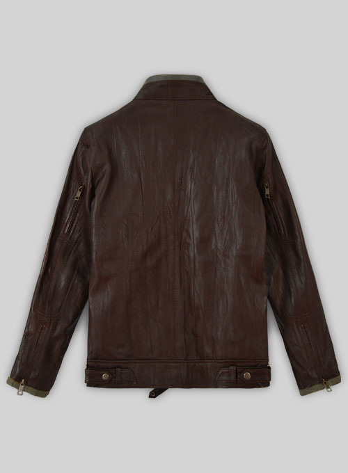 Gerard Butler Leather Jacket #1