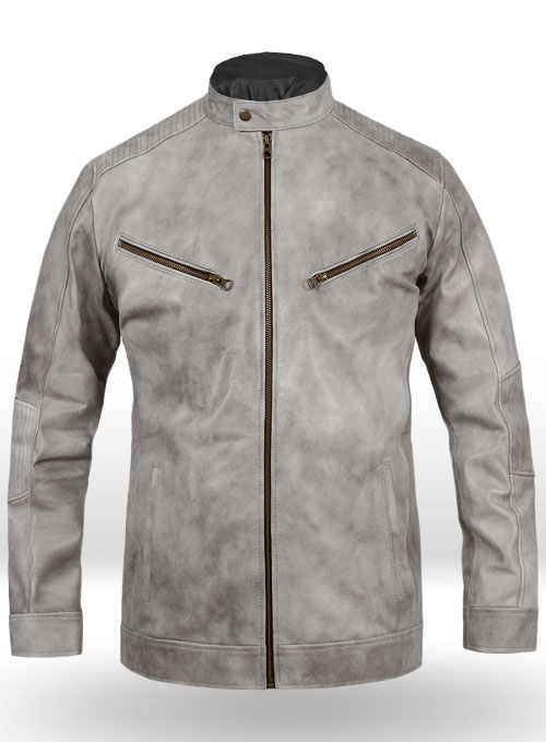 Harbor Gray Leather Jacket # 656
