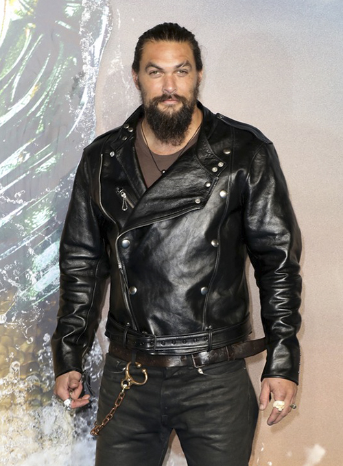 Jason Momoa Aquaman Premiere Leather Jacket