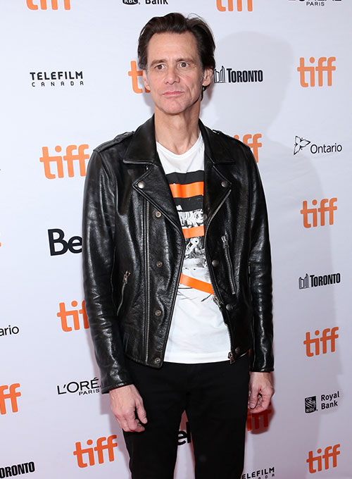 Jim Carrey Toronto International Film Festival Leather Jacket