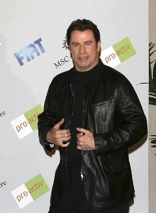 John Travolta Leather Blazer
