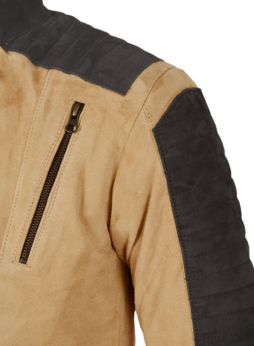 Latte Beige Suede Leather Jacket # 647