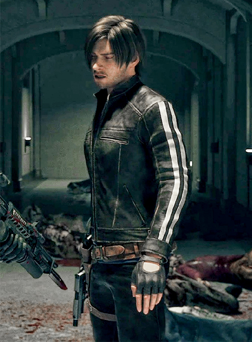 Leon Kennedy Resident Evil: Vendetta Leather Jacket
