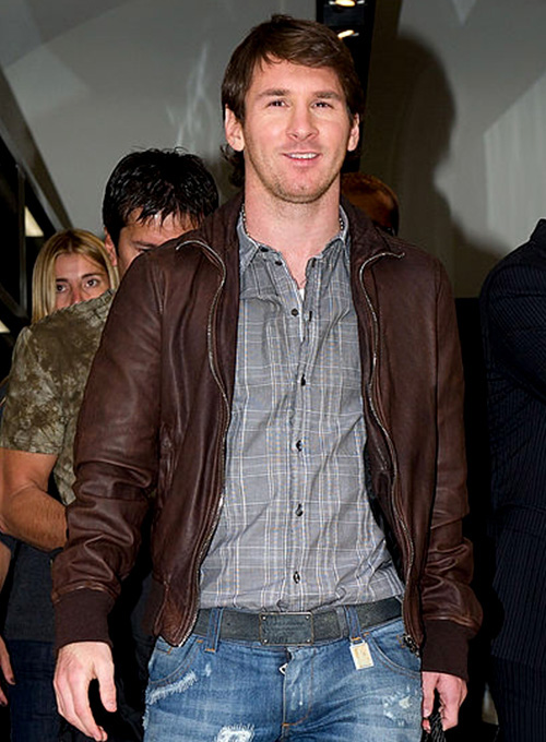Lionel Messi Leather Jacket #1