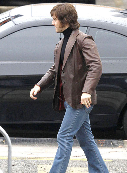 Michael Shannon Elvis & Nixon Leather Blazer