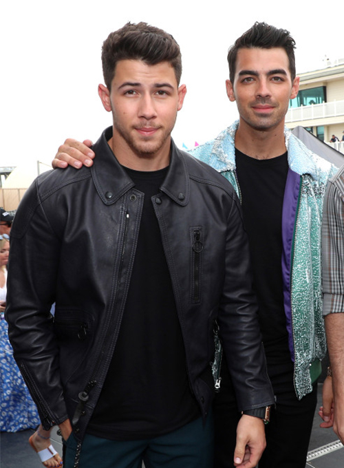 Nick Jonas Leather Jacket #1
