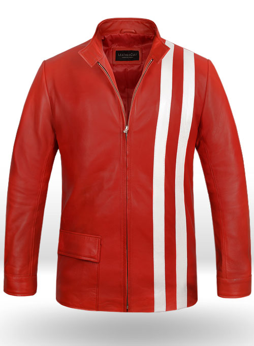Red Elvis Presley Speedway Leather Jacket
