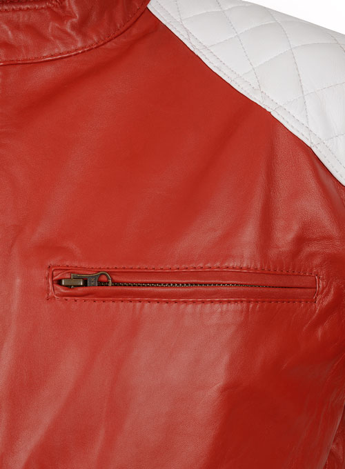 Ricky Stripe Leather Jacket