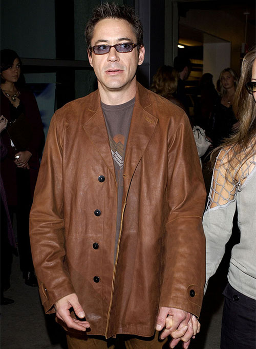 Robert Downey Jr Leather Blazer #2