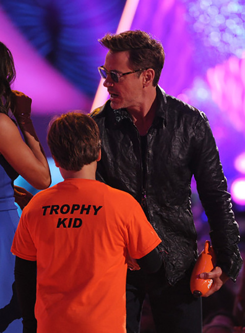 Robert Downey Jr. Nickelodeon Awards Leather Jacket