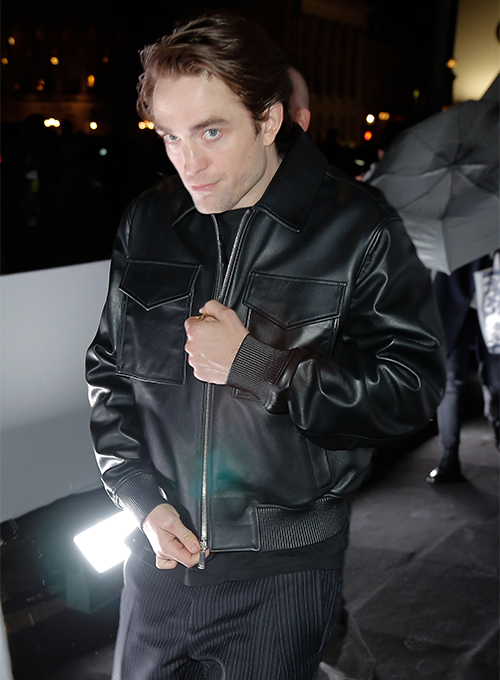 Robert Pattinson 2020 Paris Fashion Show Leather Jacket