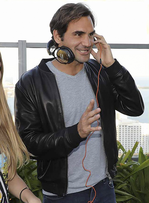Roger Federer Leather Jacket # 1