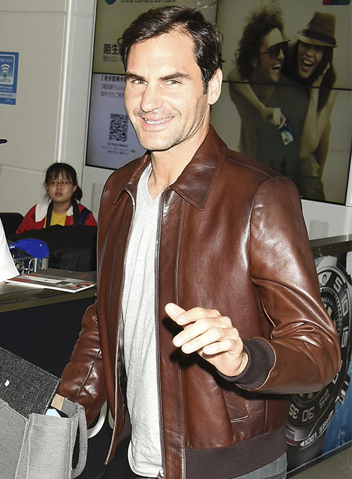 Roger Federer Leather Jacket # 2
