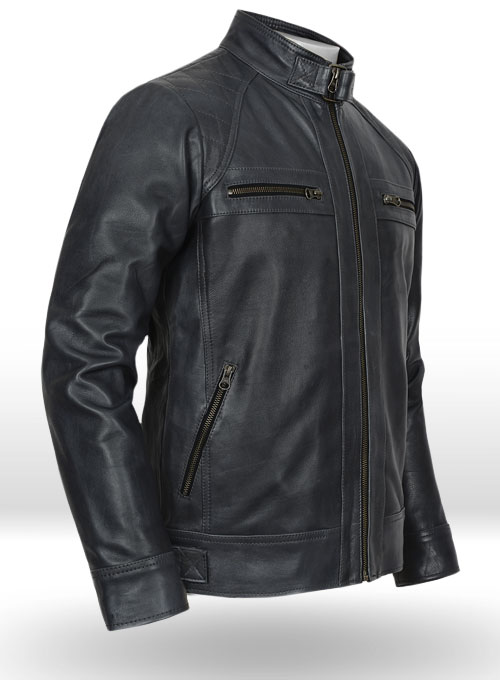 Rover Blue Leather Jacket # 653