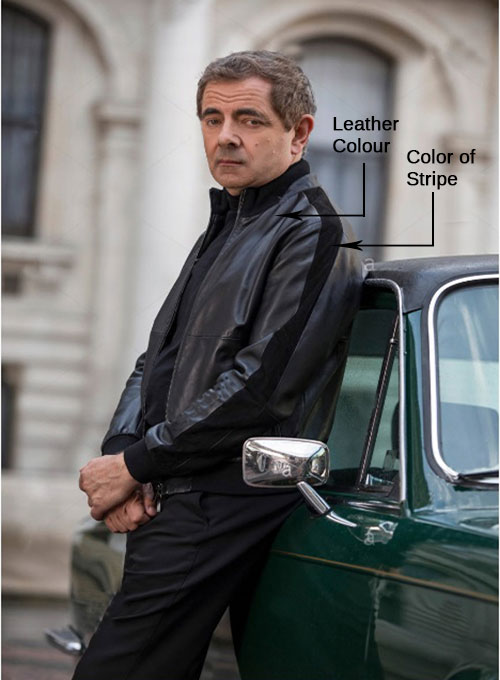 Rowan Atkinson Johnny English Strikes Again Leather Jacket