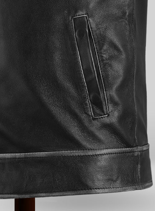 Rubbed Black Jason Bateman Leather Jacket