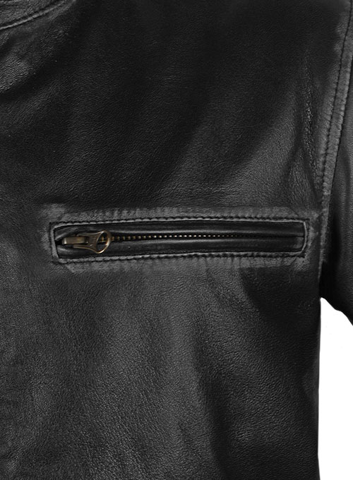 Rubbed Black Mark Wahlberg Contraband Leather Jacket