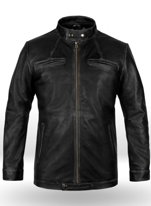 Rubbed Black Zac Efron 17 Again Leather Jacket