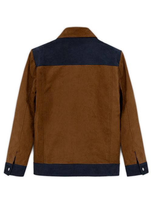 Soft Caramel Brown Suede Cristiano Ronaldo Leather Jacket #1