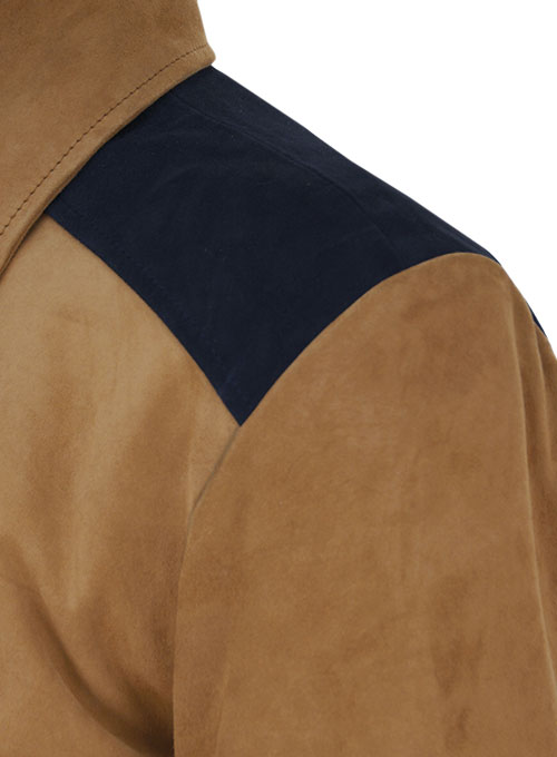 Soft Saddle Brown Suede Cristiano Ronaldo Leather Jacket #1