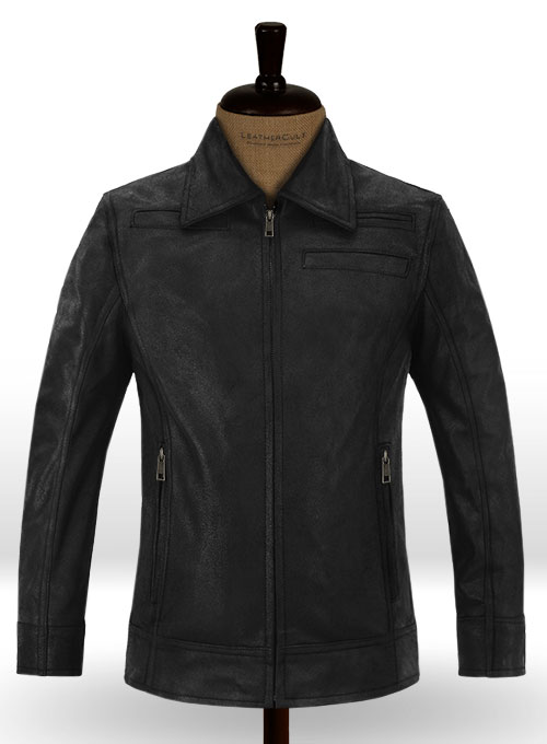 Shiny Cocktail Black Joseph Gordon Looper Leather Jacket