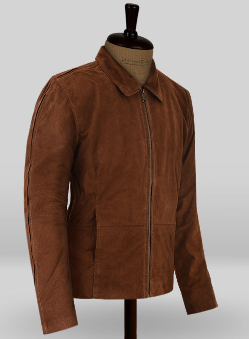 Soft Tan Brown Suede Daniel Craig Spectre Leather Jacket