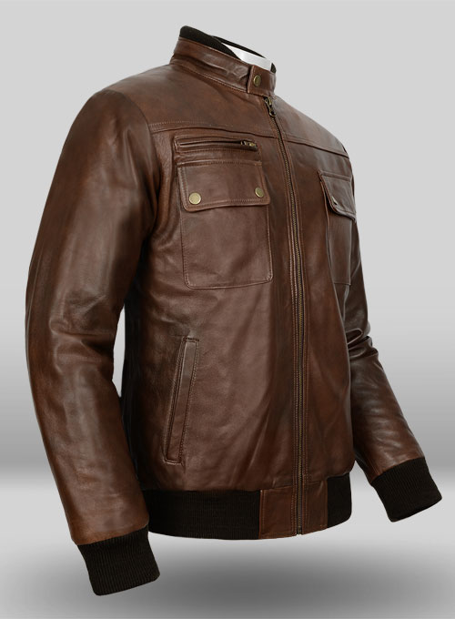 Spanish Brown Leather Jacket # 94