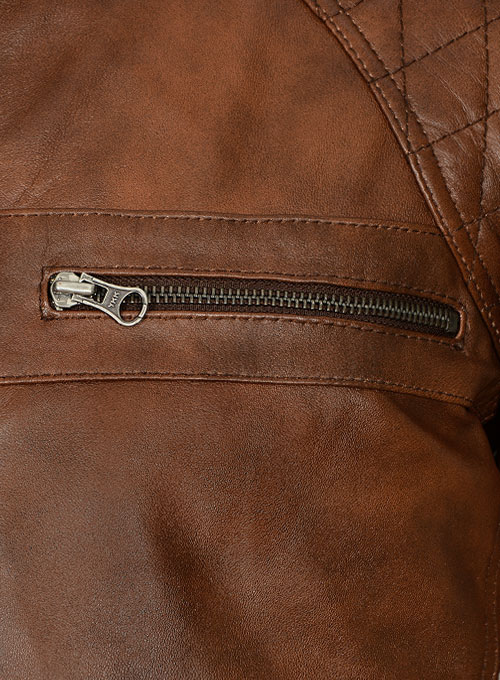 Spanish Brown Leather Jacket # 653