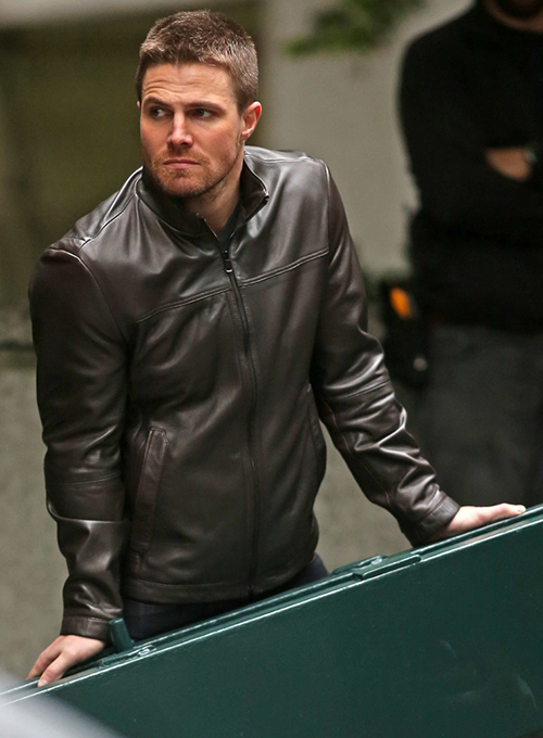 Stephen Amell Arrow Leather Jacket
