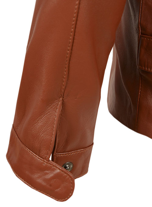 Tan Brown Minority Report Leather Jacket