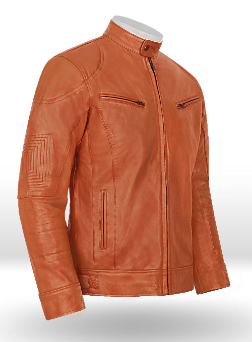 Terrain Brown Leather Jacket # 655