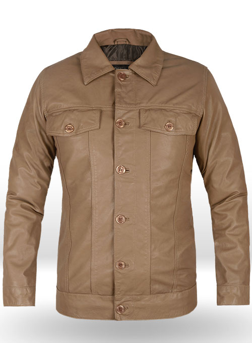 Soft King Brown Washed Transformers Mark Wahlberg Leather Jacket