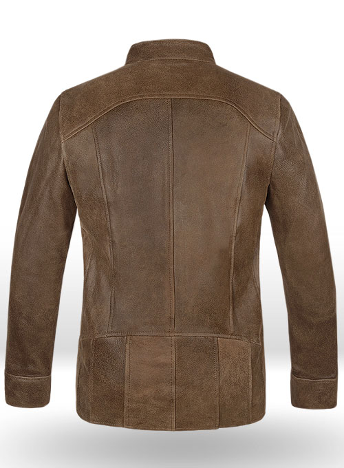 Vintage Gravel Brown Leather Cycle Jacket #3