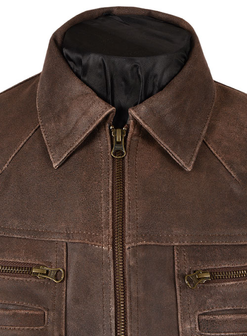 Vintage Brown Grain Leather Jacket # 104