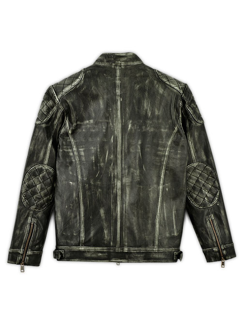 William Charcoal Leather Jacket