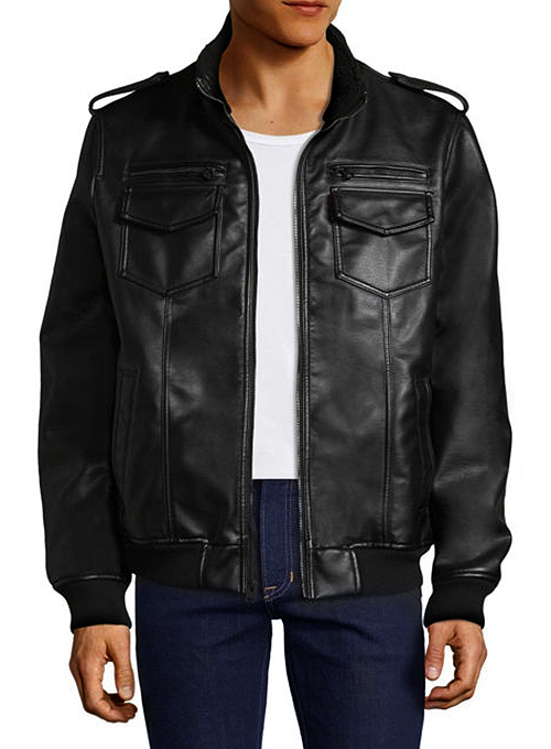 Alpha Bomber Leather Jacket