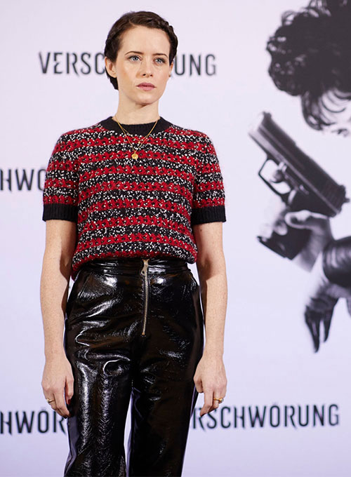 Claire Foy Leather Pants