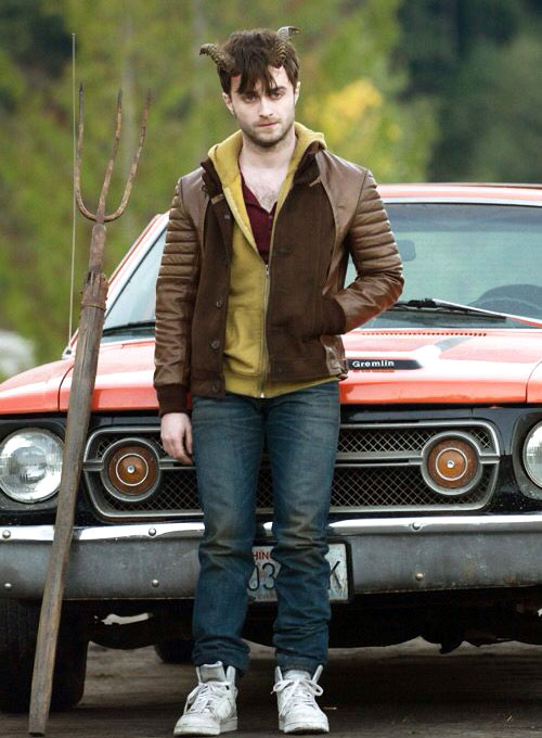 Daniel Radcliff Horns Leather Jacket