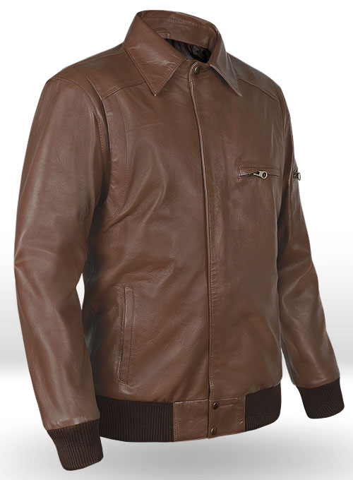 Hunter Bomber Leather Jacket