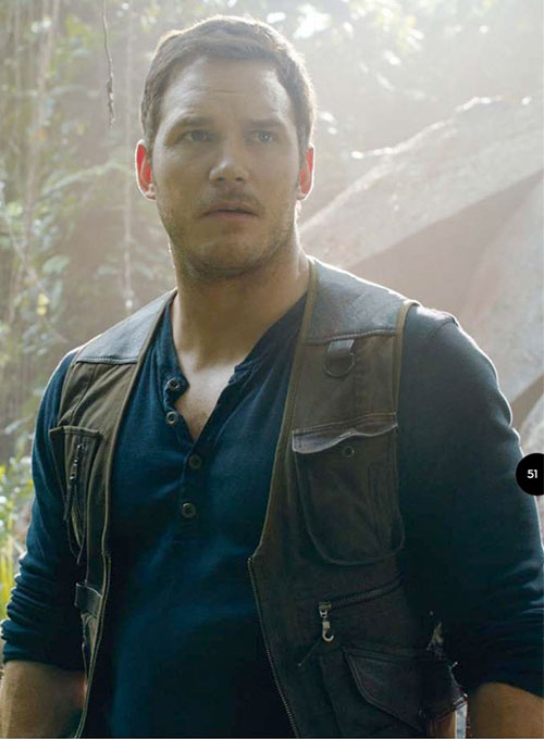 Chris Pratt Jurassic World Fallen Kingdom Leather Vest