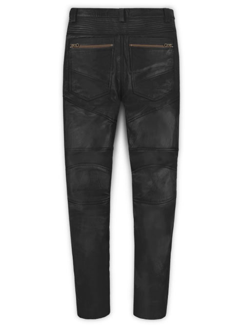 Leather Biker Jeans - Style #512
