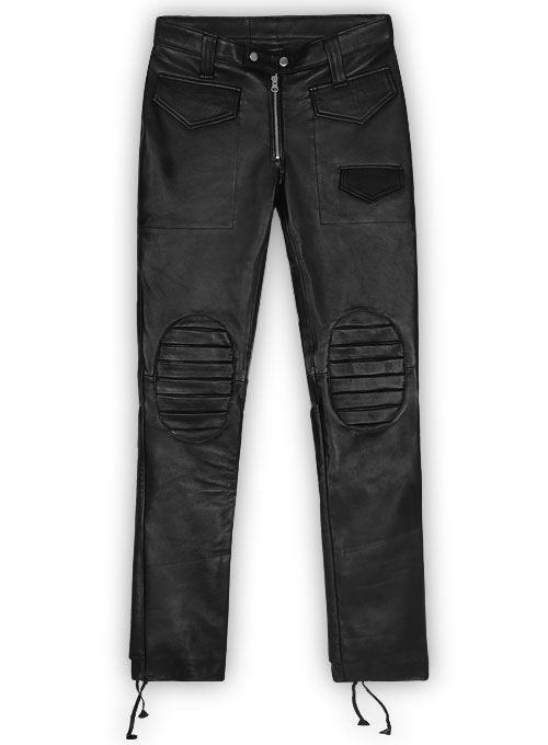 Ryder Leather Biker Jeans
