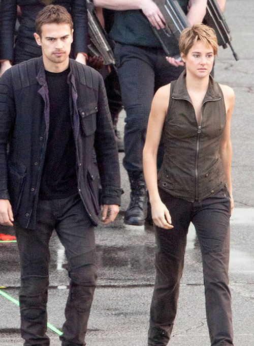 Shailene Woodley Insurgent Leather Vest