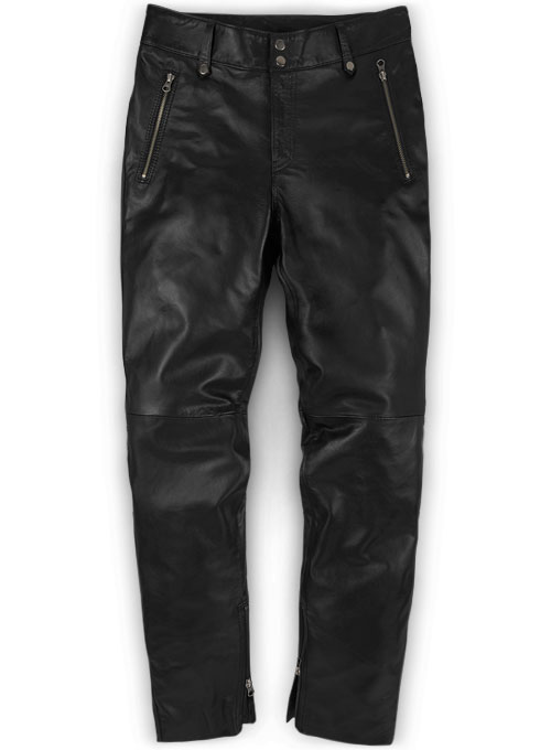 Thrill Leather Biker Jeans